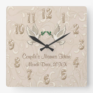 Romantiques personnalisés rougissent horloge de