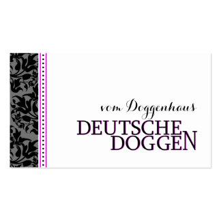 Romantisch de Deutsche Doggen Carte De Visite Standard