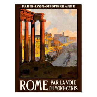Rome à l'affiche 1920 de voyage de Voie de La de Carte Postale