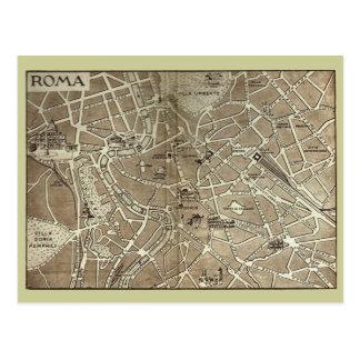 Rome, carte datant à la fin du 19ème siècle