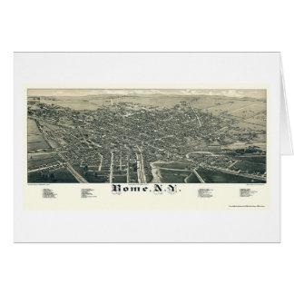 Rome, carte panoramique de NY - 1886