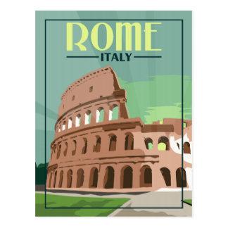 Rome Italie - carte postale vintage de voyage