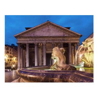 Rome - Panthéon à la carte postale de nuit