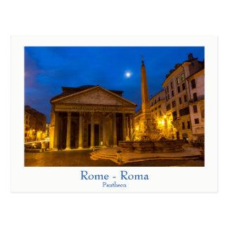Rome - Panthéon à la carte postale de pleine lune