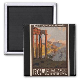 Rome par le Mont-Cenis Magnet Carré