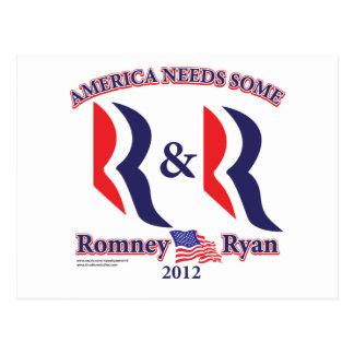 Romney et Ryan Carte Postale