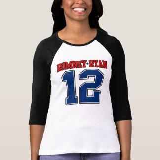 Romney/Ryan '12, conception de sport de fac, Mitt T-shirt