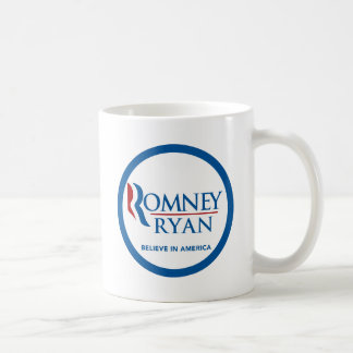 Romney Ryan croient en frontière bleue ronde de Mug