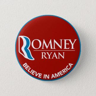 Romney Ryan croient en rouge rond de l'Amérique Badges