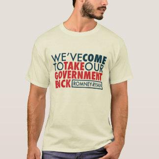 Romney-Ryan rapportent le gouvernement T-shirt