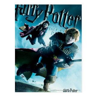Ron et Ginny sur les balais 1 Carte Postale