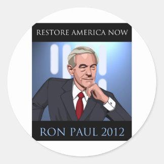 RON PAUL : UN NOUVEL ESPOIR ADHÉSIF ROND