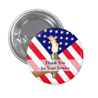 Rond de vétéran et de service actif badge