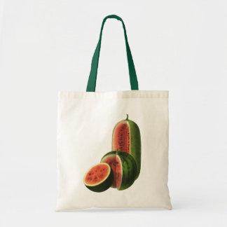 Rond grand de pastèques vintages, fruit d'aliment sac