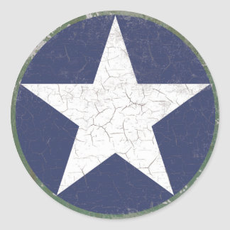Rondeau d étoile rustique autocollants