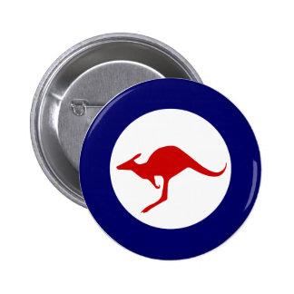 Rondeau militaire d'aviation de kangourou de l'Aus Badge Rond 5 Cm