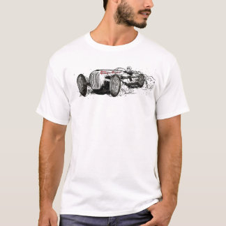 Rondin de voiture de course de crâne de t-shirt