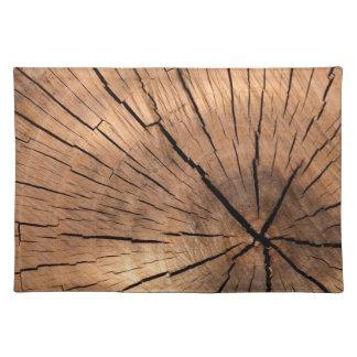 Rondin en bois set de table