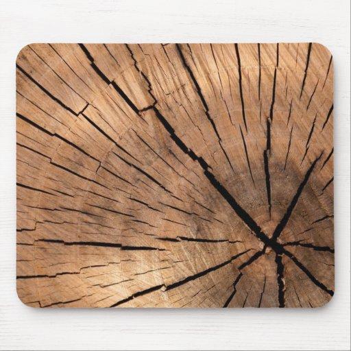 rondin en bois tapis de souris zazzle. Black Bedroom Furniture Sets. Home Design Ideas