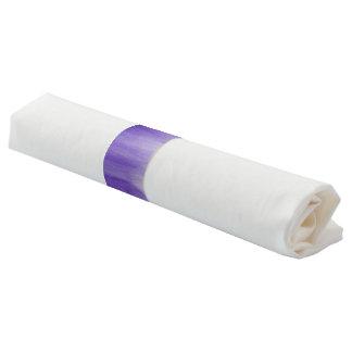 Ronds De Serviette Bandes ultra-violettes pourpres de serviette d'art