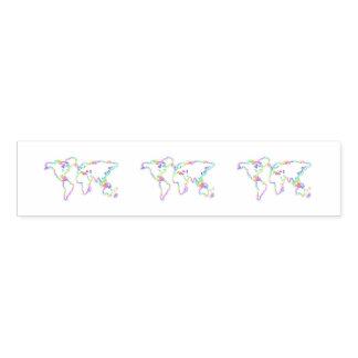 Ronds De Serviette Carte colorée du monde