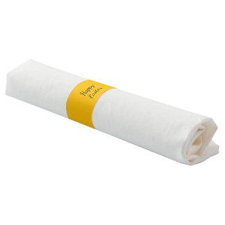 Ronds De Serviette La serviette réunit uni le jaune