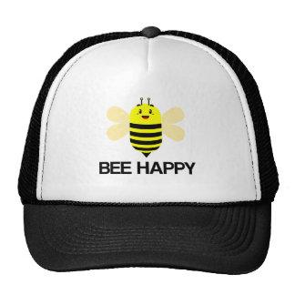 Ronflement heureux d'abeille unique casquettes de camionneur