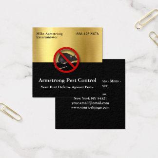 Rongeurs de souris de lutte contre les parasites carte de visite carré