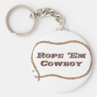 Rope les cowboy porte-clés