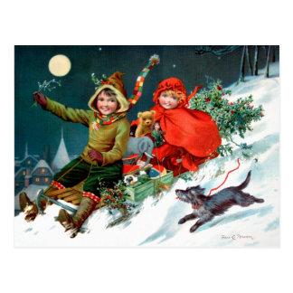 Rosa C. Petherick : Achats de Noël Cartes Postales