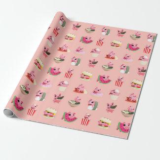 Rosa food clignote le collage papier cadeau