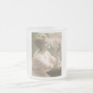 Rosalee vintage mug en verre givré