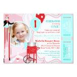 Rose 2 de carnaval invitations personnalisées