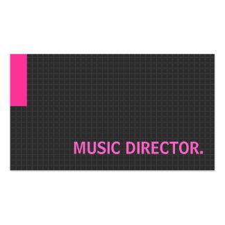 Rose à buts multiples de directeur de musique cartes de visite personnelles