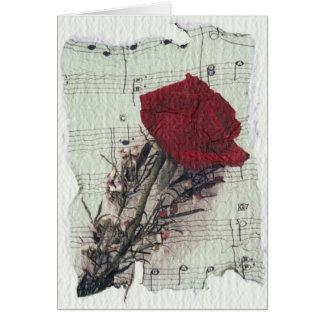 <Rose and Music> par Kim Koza 2 Carte De Vœux