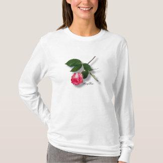 Rose assez simple de rose de tige t-shirt