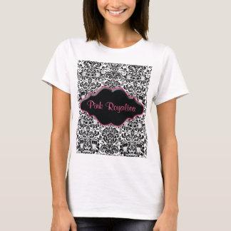 Rose blanc de noir de damassé de T-shirt de spa de