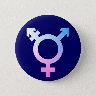 Rose/bleu/blanc de symbole de Trans* Badge