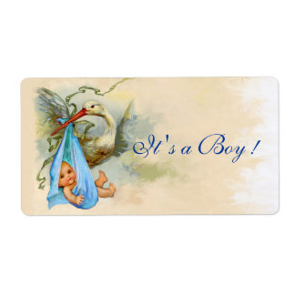 rose bleu de douche de b b de cigogne tiquette d exp dition