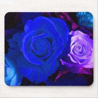 Rose bleu de pourpre I Tapis De Souris