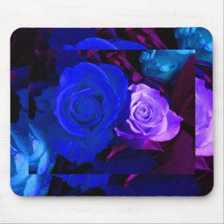 Rose bleu de pourpre tapis de souris