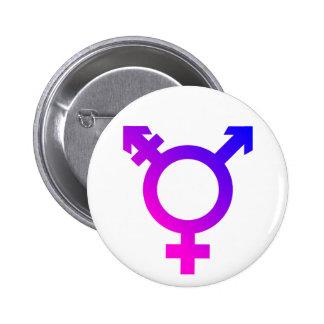 Rose/bleu de symbole de Trans* Badges
