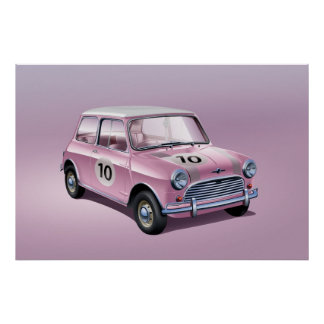 Rose d'affiche de Mini Cooper S Poster