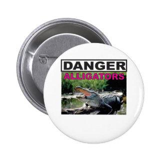 rose d'alligator de danger badges