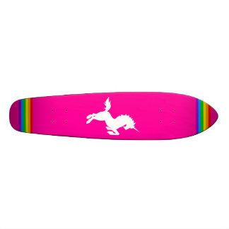 ROSE d'ARC-EN-CIEL VINTAGE de LICORNE du TIGRE 80s Skateboard Customisable