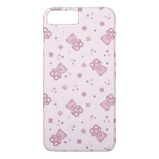 Rose d'arrière - plan de nounours coque iPhone 7 plus