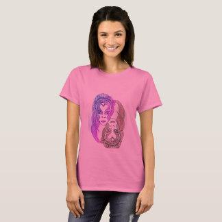 rose de base du T-shirt 3xl des femmes
