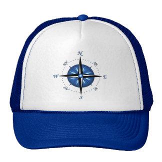 Rose de boussole bleu casquette