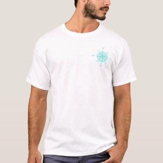 Rose de boussole nautique de turquoise t-shirt