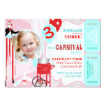 Rose de carnaval cartons d'invitation
